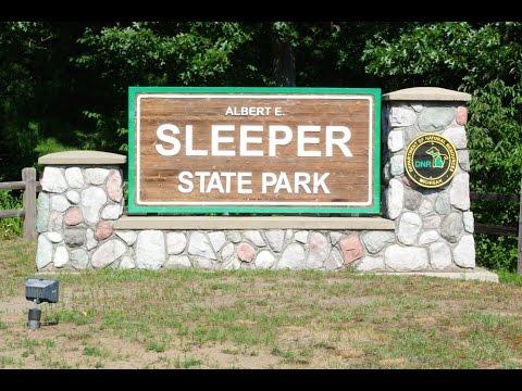 Camping at Sleeper State Park, Michigan