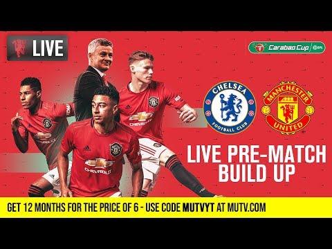 Chelsea V Manchester United - MUTV Pre-Match Build Up 18:30 (BST)   Half Price Subs Offer