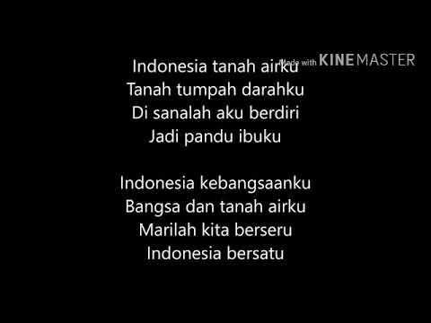 Indonesia Raya 4 Stanza