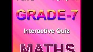 International Mathematics Olympiad For Class 7 - YT