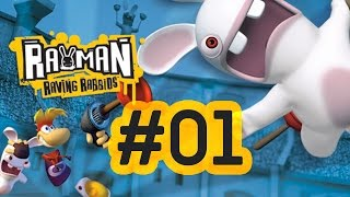 Rayman Raving Rabbids [Walkthrough] #1 Day 1