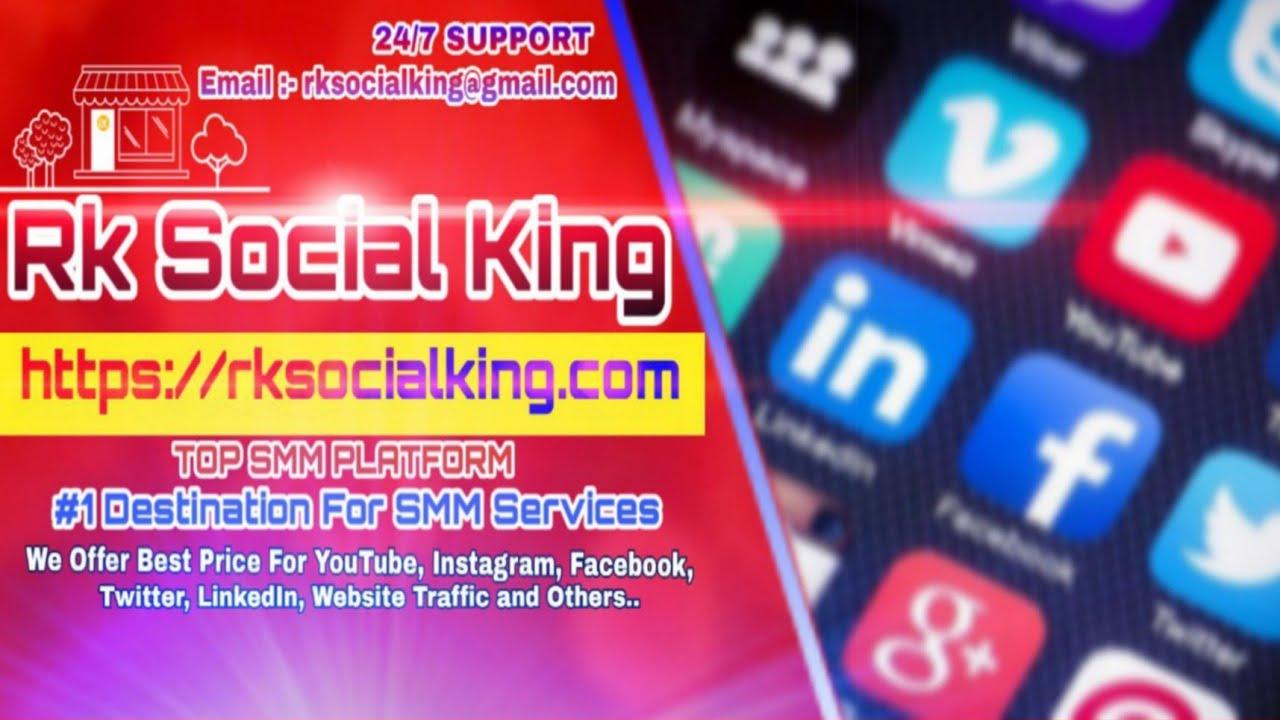 Best & Cheapest SMM Panel – Rk Social King 👑 #1 World Cheapest