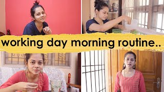 Morning Routine On a Working Day | Anithasampath Vlogs