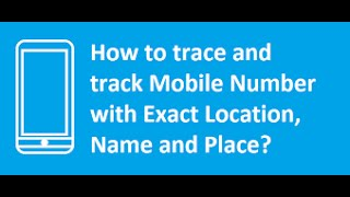 How Find Name And Address Mobile Number