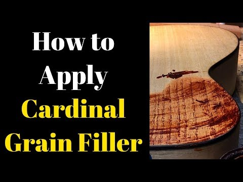 How to apply Cardinal Grain Filler Beau Hannam Guitars and Ukuleles