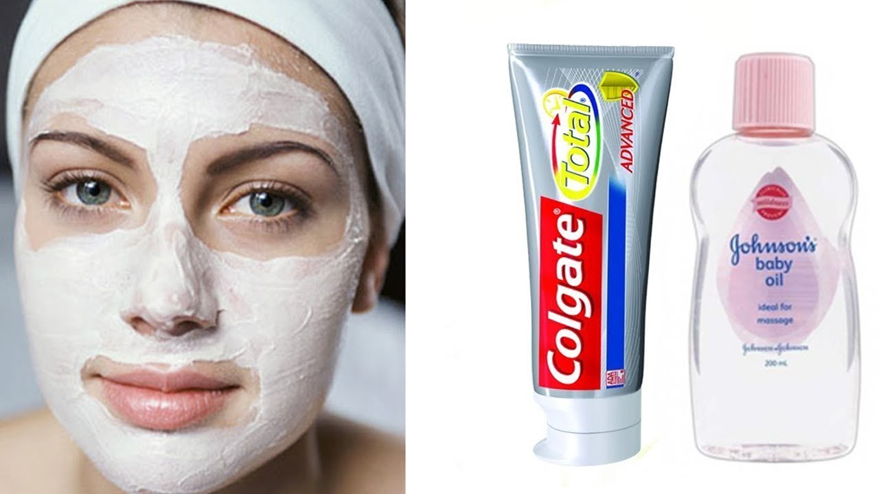 Skin Whitening Colgate Toothpaste and Babay Oil At Home Remedies