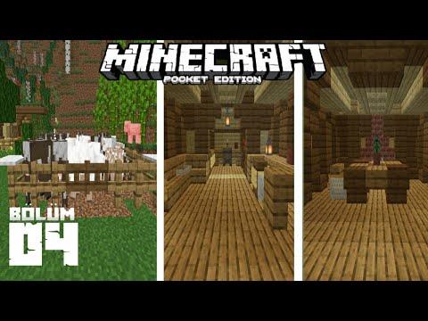 İC DEKORASYON ve HAYVANLARIMIZ - Minecraft PE Survival - Bölüm 04