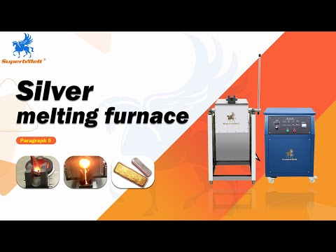 Tilting type induction metal melting furnace for gold, silver, copper - Superbmelt