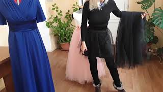 Видео обзор Черные юбки короткая и длинная комплект.