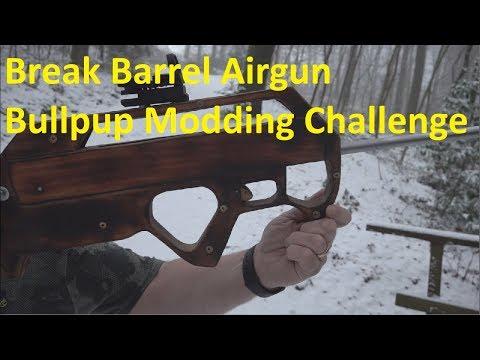 How 2 Turn a 60 yr old pellet gun into a super cool Bullpup rifle