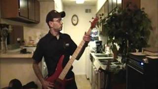 Lovin touchin squeezin bass cover
