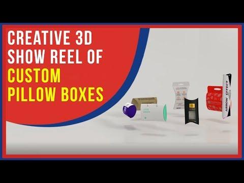 Creative 3D Show Reel of Custom Pillow Boxes by Emenac Packaging Australia