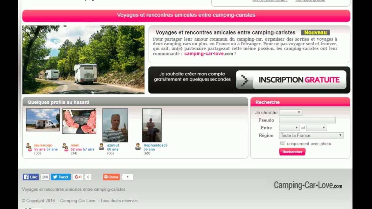 Rencontre camping car love