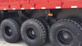Durable 3 axles side dump semi trailer(Tipper truck trailer)