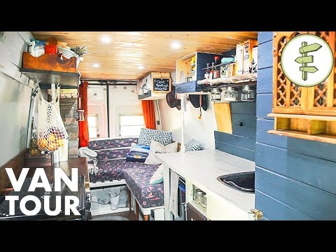 This Budget DIY Camper Van is Surprisingly Functional & Beautiful - Van Life Tour