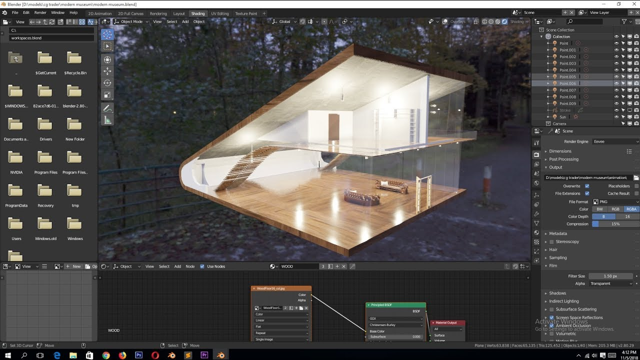 Architektur Rendering Architectural Visualization In Blender 2.8 Tutorial - Youtube