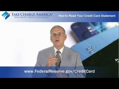 How to Read Your Credit Card Statement- Take Charge America, Inc.