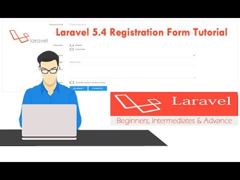 Laravel 5 4 Registration Form Tutorial : LightTube