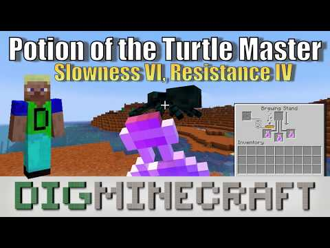 Potion Of The Turtle Master (Slowness VI, Resistance IV For 20 Seconds) In Minecraft