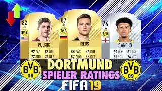 FIFA 19: DORTMUND SPIELER RATINGS PREDICTION!🔥⬆️⬇️
