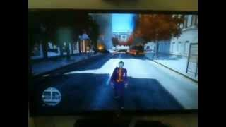 new gta on 80in tv playing as the joker