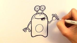 How to Draw a Cartoon Alien
