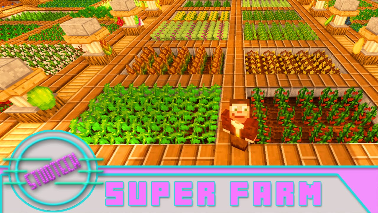 Minecraft: Pam's Harvest Craft Farm Tutorial (Stud Tech ...