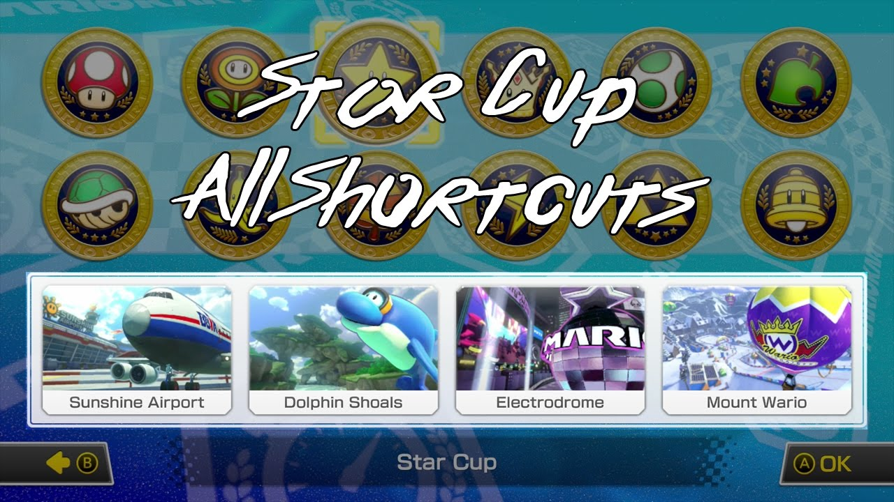 Mario Kart 8 Deluxe Star Cup All Shortcuts Youtube