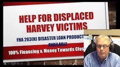 Hurricane Harvey Home Loan Disaster Relief Reminder In Porter