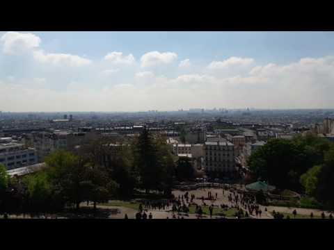 Paris from basilica of the sacred heart