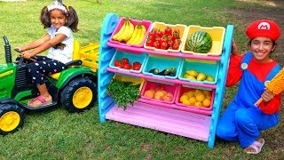 Esma go shopping for fruit and vegetables fun kid video