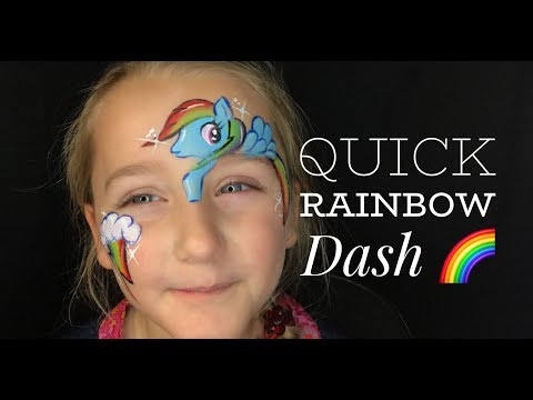 Rainbow Dash Face Paint For LONG Lines