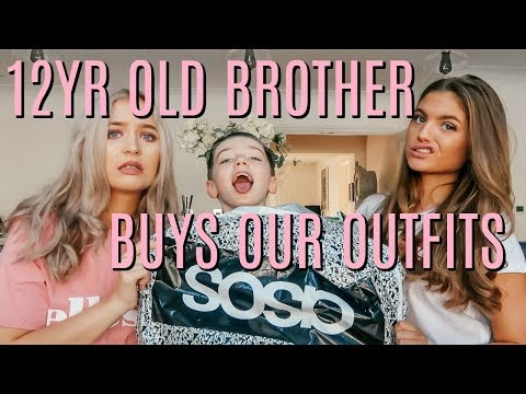 LITTLE BROTHER BUYS OUR OUTFITS