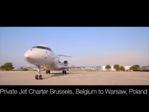 Private Jet Charter Brussels, Belgium to Warsaw, Poland