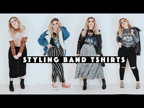 How to style band tshirts (winter edition)
