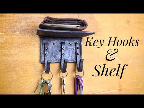 Angle iron shelf and  key hooks - Hook of the Week 10