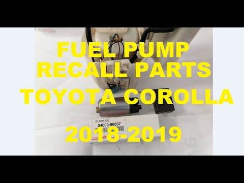 How to Replace Fuel Pump (Toyota Corolla 2018-2019) Recall Parts | GM AutoTech.