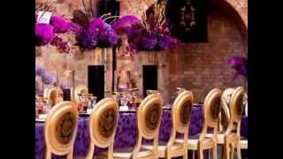 Оформление зала в фиолетовом