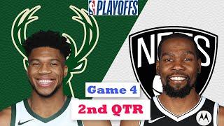 Brooklyn Nets vs Milwaukee Bucks Full Highlights 2nd Quarter Game 4 | NBA Playoffs 2021