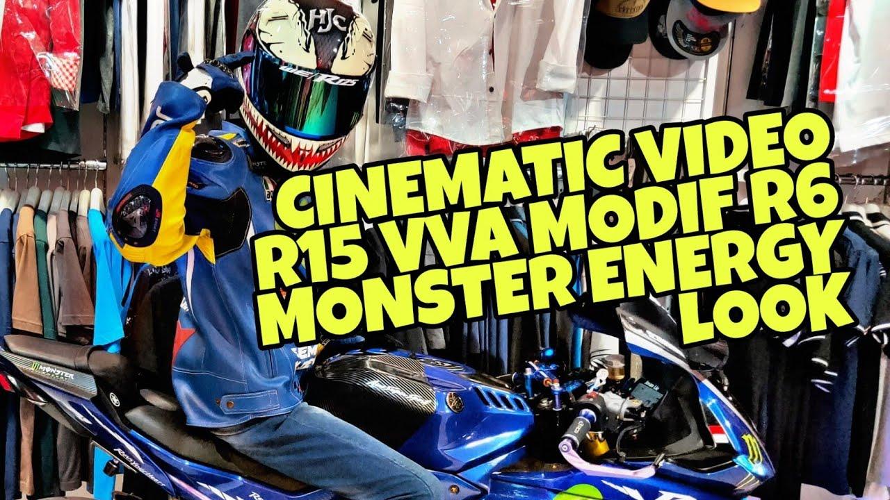 NEW Yamaha YZF R125 R15 V3 VVA Blue Monster Energy Full Custom Modified  Modification | Cinematic vid