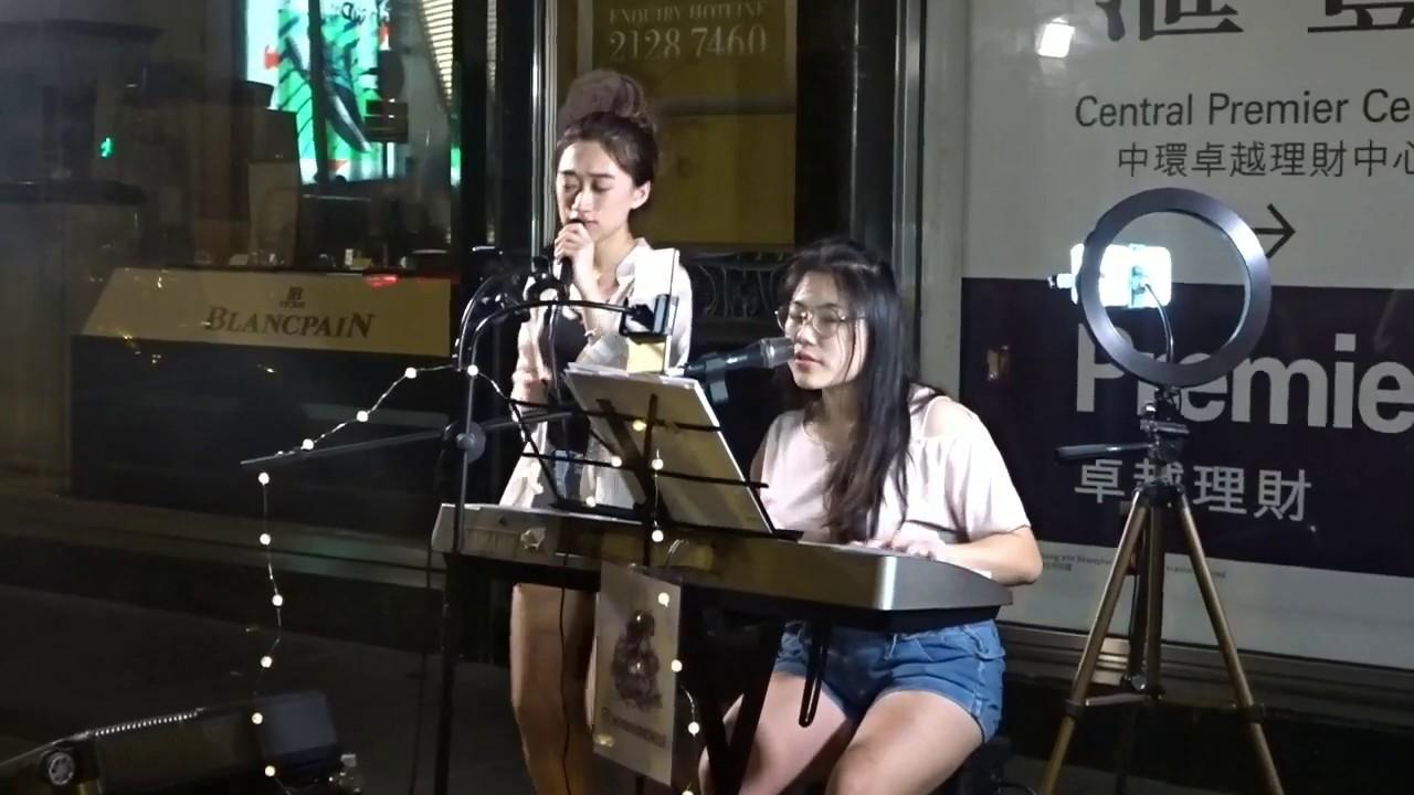寂寞星球的玫瑰 + 寫不完的溫柔 (Cover by Heyman x Michelle) @中環LKF Busking (2019.05.18) - YouTube