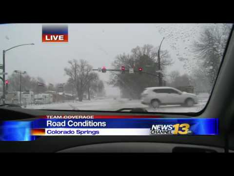 WATCH: Weather/road conditions in Colorado Springs