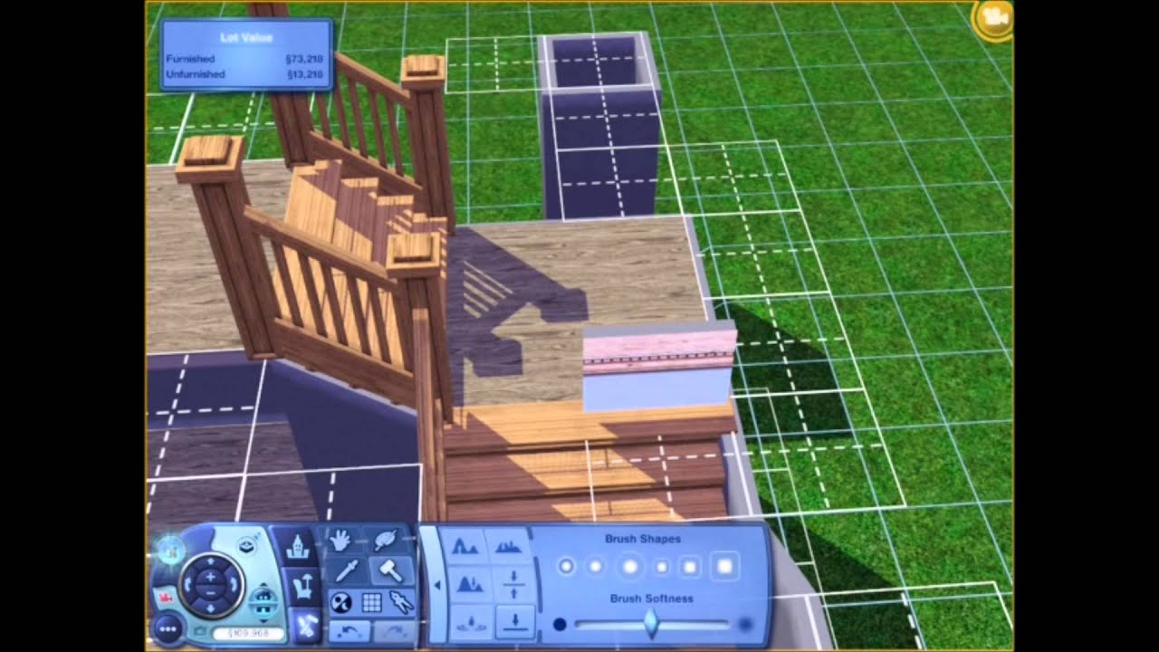 The Sims 3 Tutorial LShaped Stairs  YouTube
