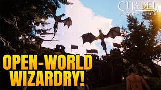 OPEN WORLD WIZARD BUILDING GAME w/ Taming & Dragons!! - Citadel: Forged with Fire Gameplay #1