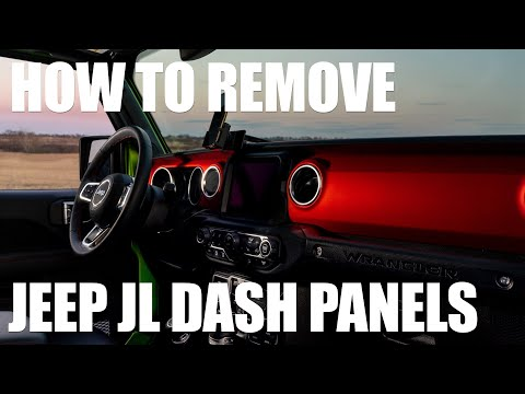 Jeep JL/JT DASH PANEL REMOVAL - How To Remove And Replace