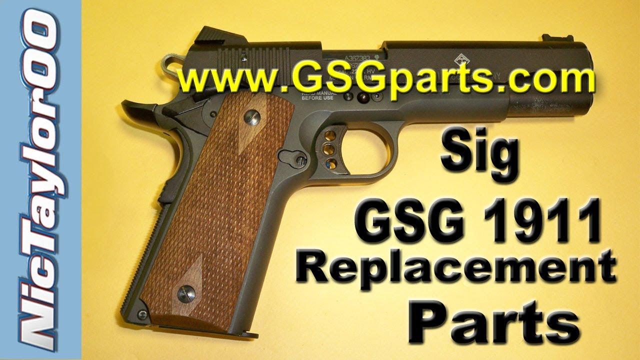 GSG / Sig Sauer 1911 22LR Broken / Replacet Parts Update - YouTube