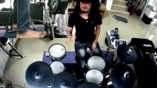 หิน เหล็ก ไฟ   Stone Metal Fire -  ร็อกเกอร์(Electric Drum cover by Neung)