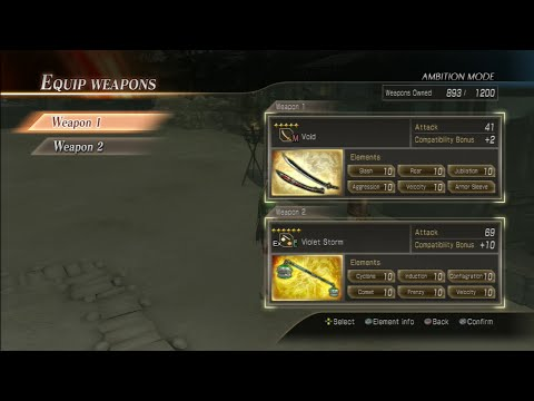 Dynasty Warriors 8: Xtreme Legends 5 and 6 Star Weapon Temper/Fusion Guide Walkthrough Commentary