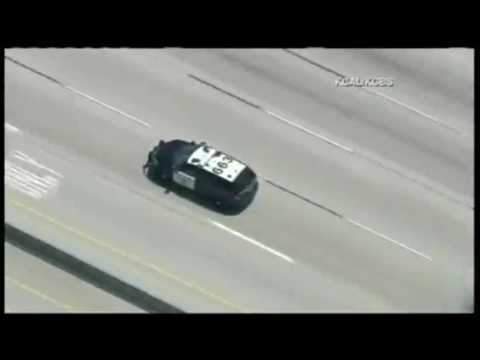 Spoiler Alert: Stop for gas before your next car chase! - MIAMI, FL CAR CHASE - PURSUIT
