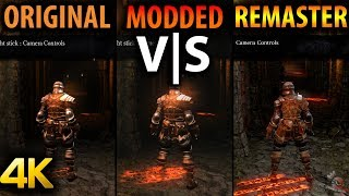 Dark Souls Original vs Modded vs Remastered Comparison 4K 60FPS